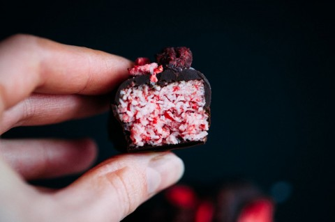 Strawberry Coconut Candies
