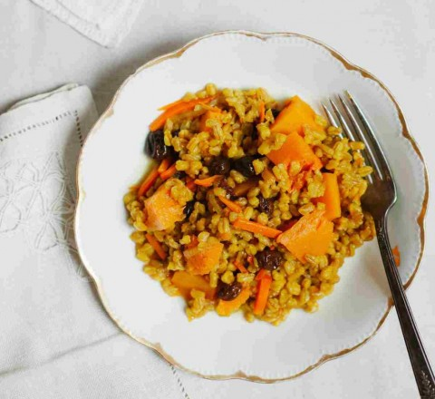 Bukhara Farro Pilaf from Simply Vibrant (video)
