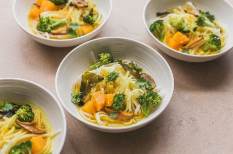 Golden Broth Rice Noodles by Golubka Kitchen