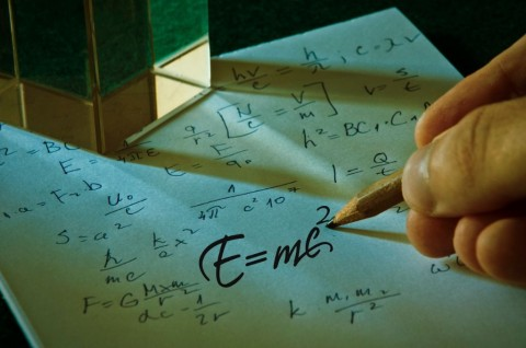 theory-of-relativity-by-albert-einsteins-picture-id598054380