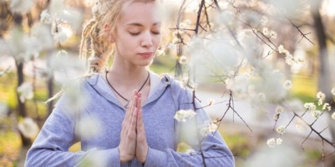 young-woman-meditating-picture-id1140574885