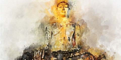 buddha-image-digital-art-watercolor-painting-abstract-picture-id1154388633