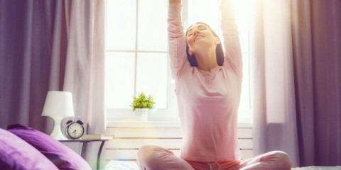 woman-enjoying-sunny-morning-picture-id830089732