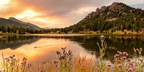 lake-fiery-sunset